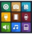 Multimedia flat icons set 2 vector image