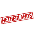 Netherlands red square stamp vector image vector image