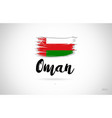 oman country flag concept with grunge design icon vector image vector image