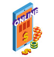 online casino club gambling games isolated icon vector image