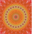 Orange abstract star mandala fractal background vector image vector image