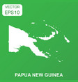 papua new guinea map icon business concept guinea vector image vector image