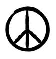 peace symbol hand drawn brush vector image vector image