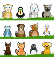 pet animals vector image vector image