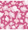 pink and white berries and leaves seamless pattern vector image vector image