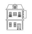 real estate building black and white vector image vector image