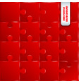 red pieces puzzle game background vector image vector image