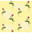 rose pattern in yellow vector image vector image
