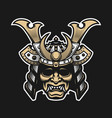 samurai warrior mask traditional armor of vector image vector image