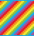 seamless background chevron pattern in rainbow vector image vector image