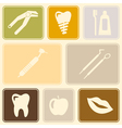 Seamless background with dental symbols vector image vector image