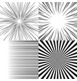 set of radial rays vector image vector image