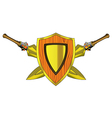 Shield and Arms vector image
