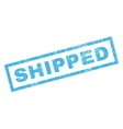Shipped Rubber Stamp vector image vector image