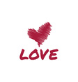 sketch heart love vector image vector image