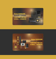 sound system business card audio acoustic vector image
