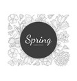 spring banner template with wild flowers and vector image