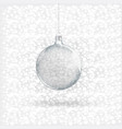 template of glass transparent christmas ball vector image vector image