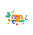 travel trailer camping summer travel equipment vector image