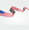 USA flag background vector image vector image