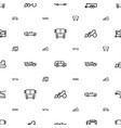 vehicle icons pattern seamless white background vector image vector image