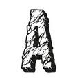 vintage monochrome letter a concept vector image vector image