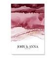 watercolor wedding burgundy invitation abstract vector image vector image