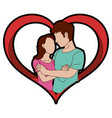 woman and man design vector image