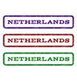netherlands watermark stamp vector image
