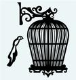 Vintage bird cages vector image