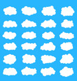 creative of fluffy sky clouds vector image