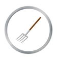 Pitchfork icon of for web and vector image