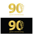 90 years anniversary style for celebration logo