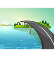 A long road above the river vector image vector image