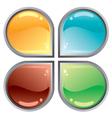 Abstract web button vector image