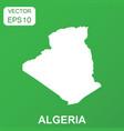 algeria map icon business concept algeria vector image vector image