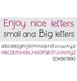 alphabet letters set vector image