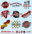 Bbq meat labels vector | Price: 1 Credit (USD $1)