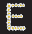 bele rade slova E vector image vector image