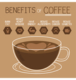 Benefits of coffee flat design vector image vector image