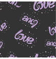 black and purple hand drawn seamless love pattern vector image vector image