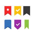 bookmark icons set label element design vector image vector image