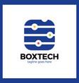 box tech logo vector image vector image