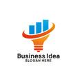 business creative idea logo design template with vector image