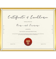 Certificate template for excellence vector image vector image