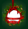 christmas and new year background christmas ball vector image vector image