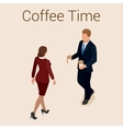Coffee time or coffee break Group People Chatting vector image