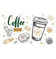 coffee to fo concept vector image vector image