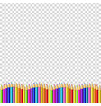 colored pencils down line in shape of wave vector image