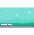 container truck on the road vector image vector image